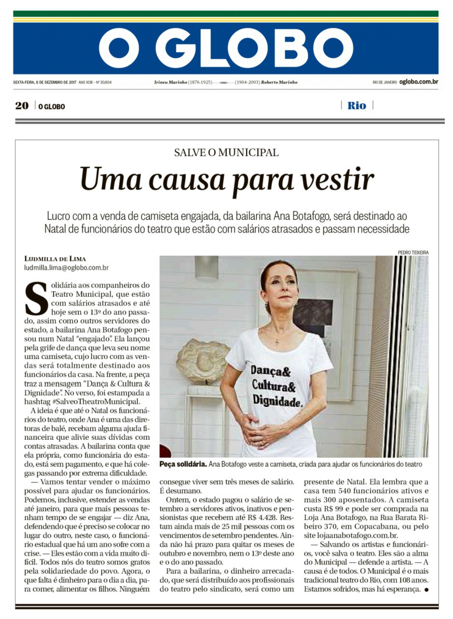 9f12544e6e O Globo  Uma causa para vestir - Ana Botafogo Boutique